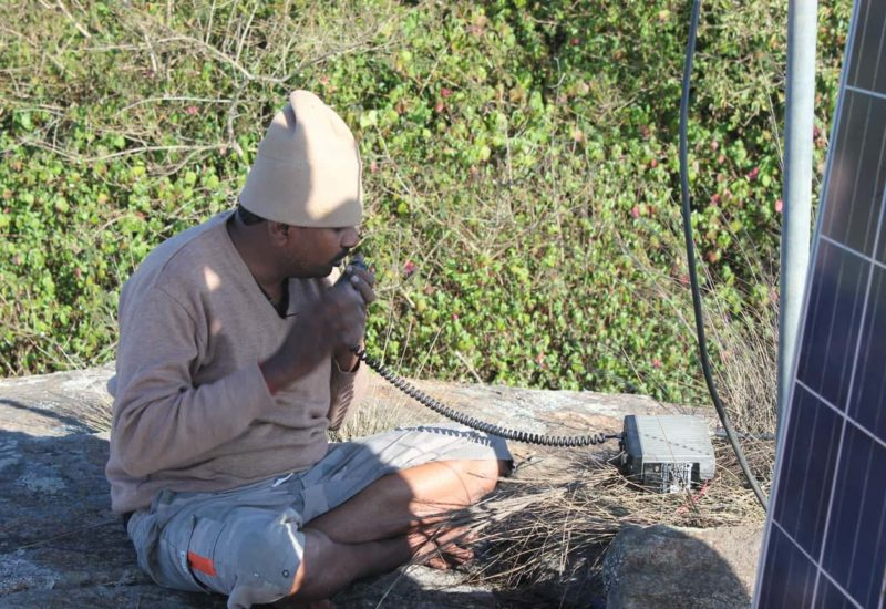 VU2ICI Mohan operating VHF from a hilltop