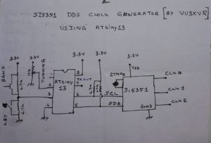 Si5351 DDS Clock Generator Using ATtiny13 Microcontroller with