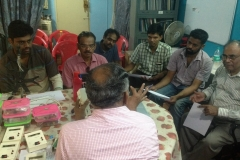 VU2PTR, OM Thyagu is giving an introduction on LC meter